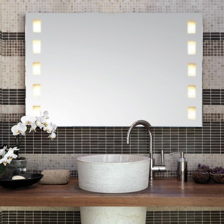 Top Light Visagist LED crystal mirror illuminated, satin finish Size Selection