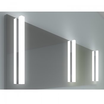 "Innovative LED Spiegelleuchte ""FLAT RV"" in Chrom"