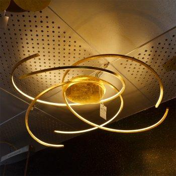 Ausstellungsstück   LED Deckenleuchte Space 80 Cm Blattgold 45280209 Escale