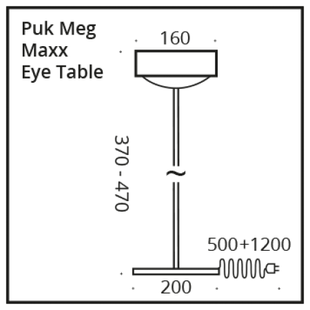 Top Light LED Puk Meg Maxx Eye Table Tischleuchte 37cm, Dimmbar Farbauswahl
