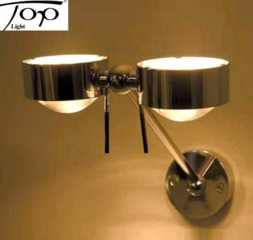 "Wall lamp ""PUK WING TWIN"" Nickel Matt TOPLight"