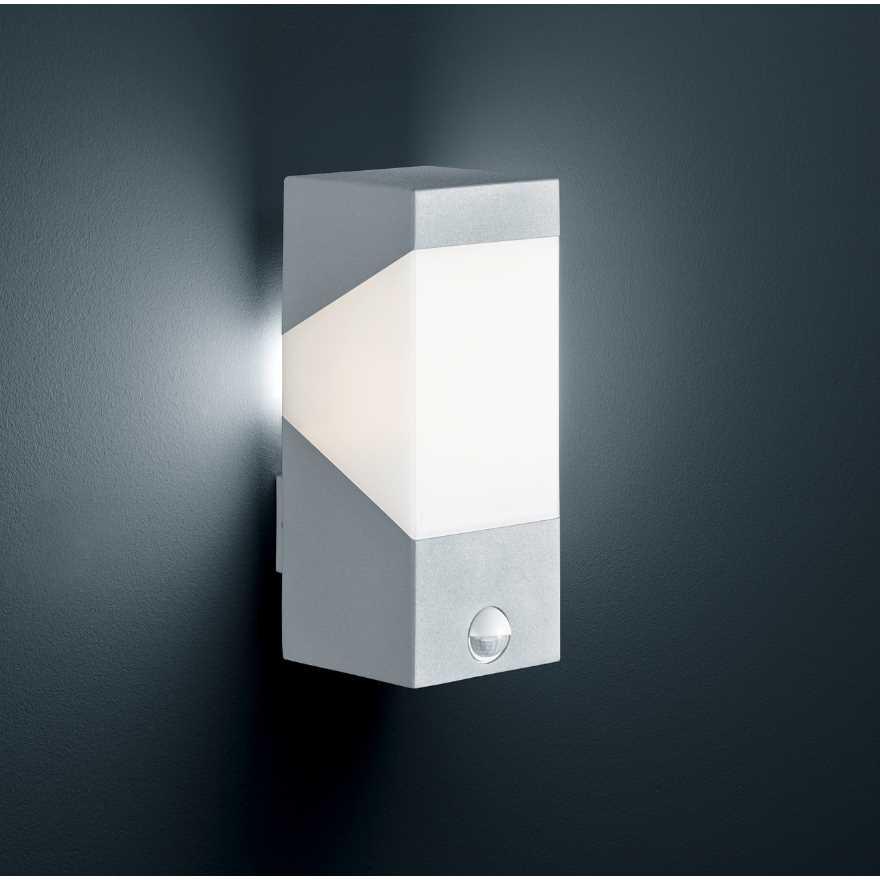 led au enwandlampe mit bewegungsmelder anthrazit oder grau. Black Bedroom Furniture Sets. Home Design Ideas