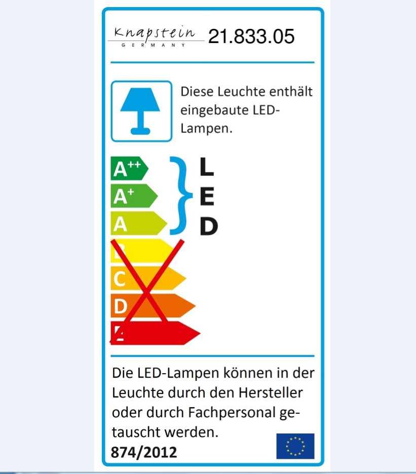 LED Wandeinbauleuchte 21.833.05 Mit Schalter Knapstein