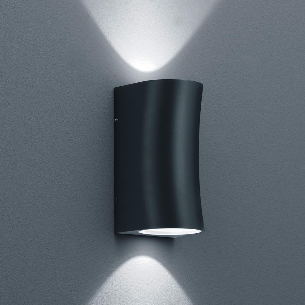led au enleuchte bay graphit lichtaustritt oben und unten. Black Bedroom Furniture Sets. Home Design Ideas