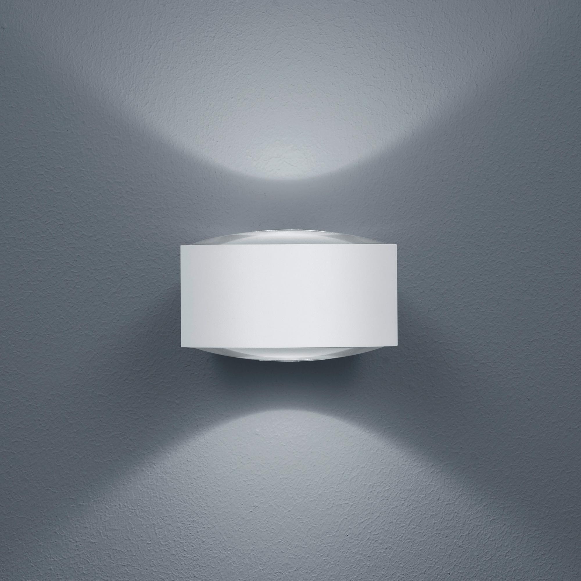 led wandleuchte au enbereich flow wei up downlight helestra. Black Bedroom Furniture Sets. Home Design Ideas