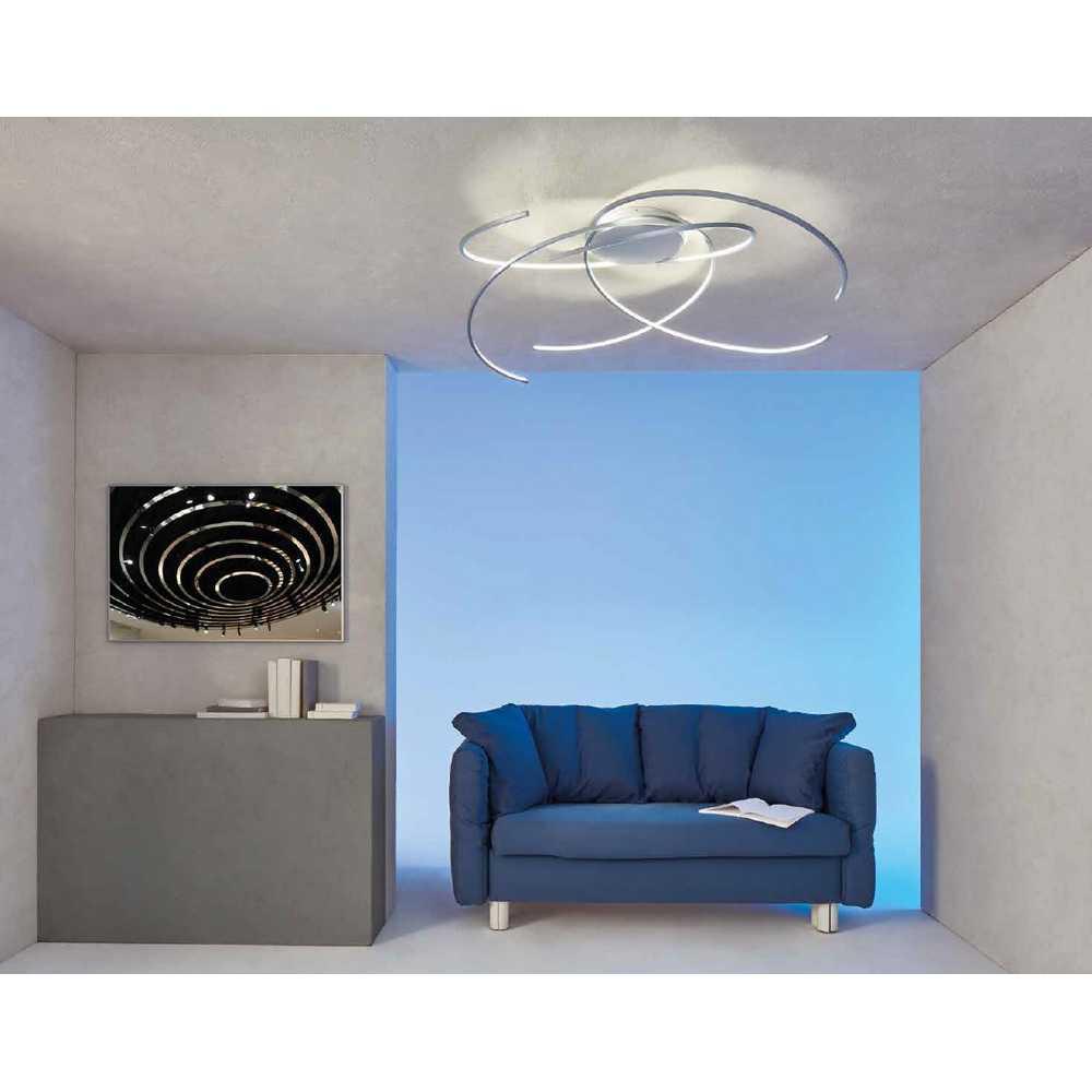 led deckenleuchte space alu geschliffen 44380309 escale. Black Bedroom Furniture Sets. Home Design Ideas