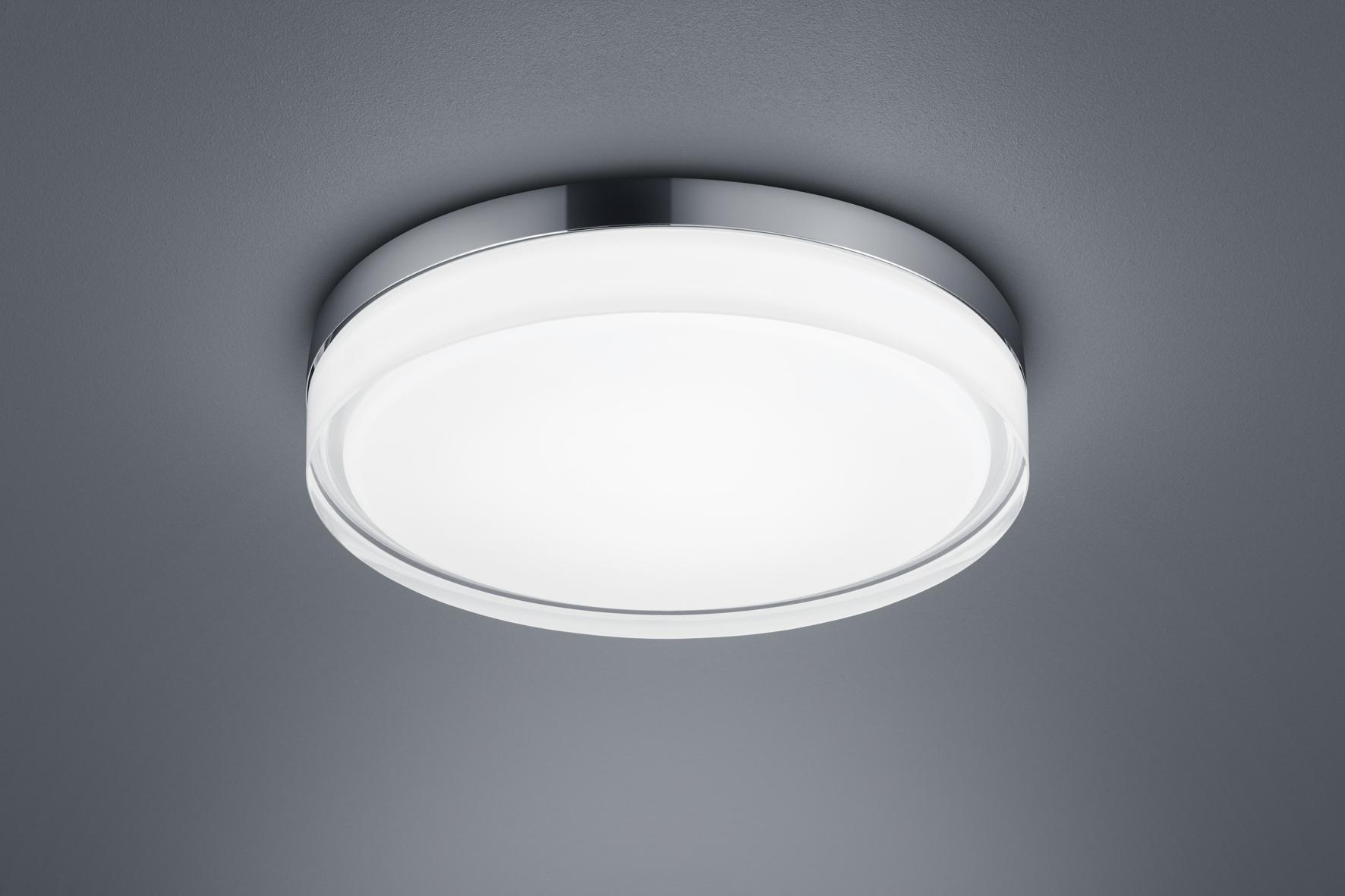 Helestra 20/20.20 LED Deckenleuchte TANA chrom Glas teilsatiniert Ø 20 cm