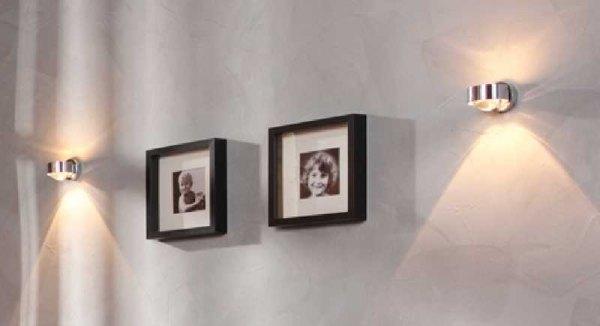 Puk Wandleuchte wandle puk wall 2 0812 chrom halogen top light
