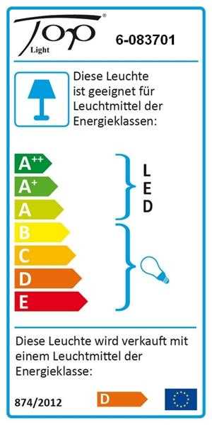Top Light LED Tischleuchte Puk Eye Table 37cm Farbauswahl incl. Schnurdimmer