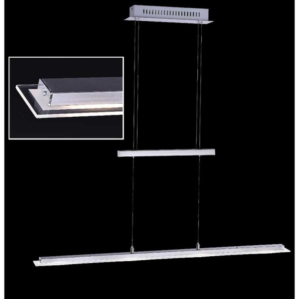 led esstischleuchte mit dimmer 88cm h henverstellbar. Black Bedroom Furniture Sets. Home Design Ideas