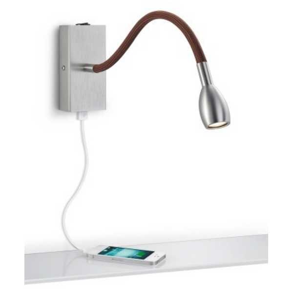 led wandleuchte leseleuchte mit usb anschluss von knapstein. Black Bedroom Furniture Sets. Home Design Ideas