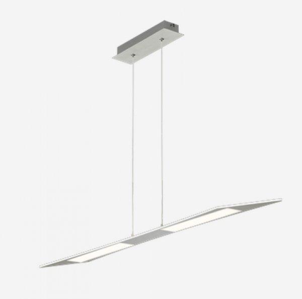 Trendige LED Pendelleuchte FLAT Aluminium 373210305 TRIO Leuchten