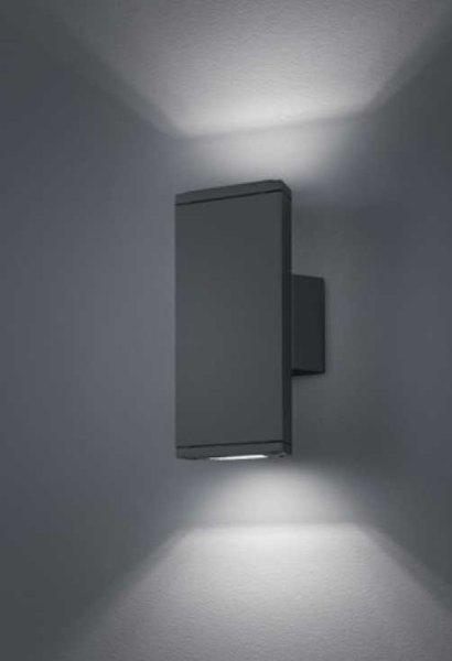 led au enwandleuchte farbe w hlbar h he 20 cm 2 x 3 watt. Black Bedroom Furniture Sets. Home Design Ideas