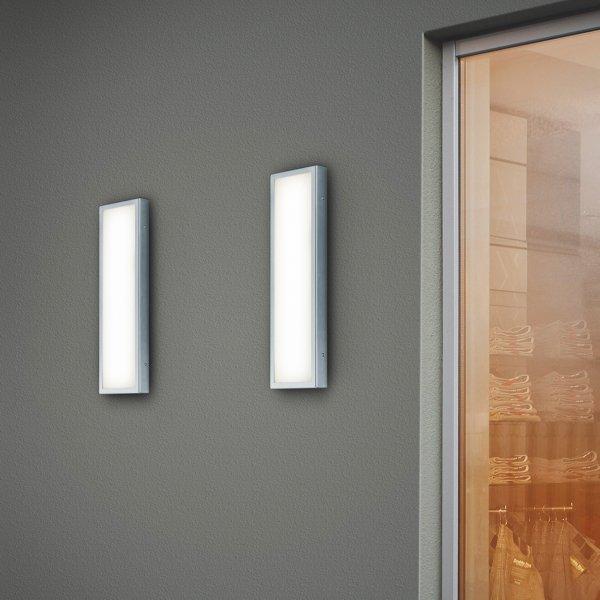 led wandleuchte f r au enbereich scala led edelstahl helestra. Black Bedroom Furniture Sets. Home Design Ideas
