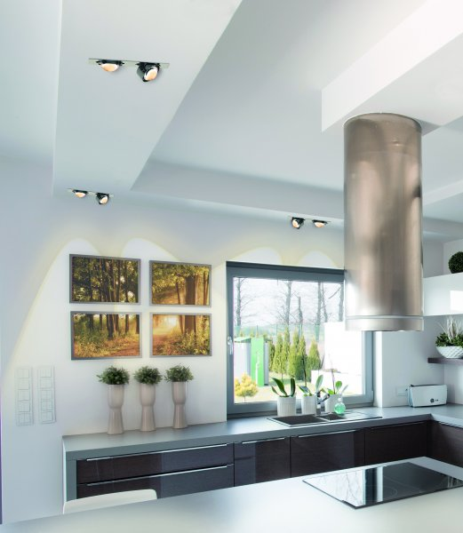 Top light deckeneinbauleuchte led puk inside quadratisch for Lampen quadratisch