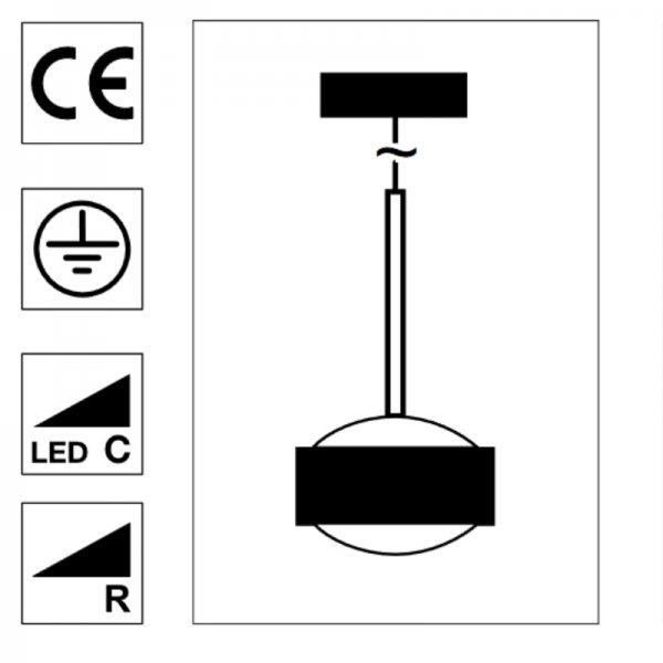 Top Light LED Puk Drop Solo Pendelleuchte Farbauswahl