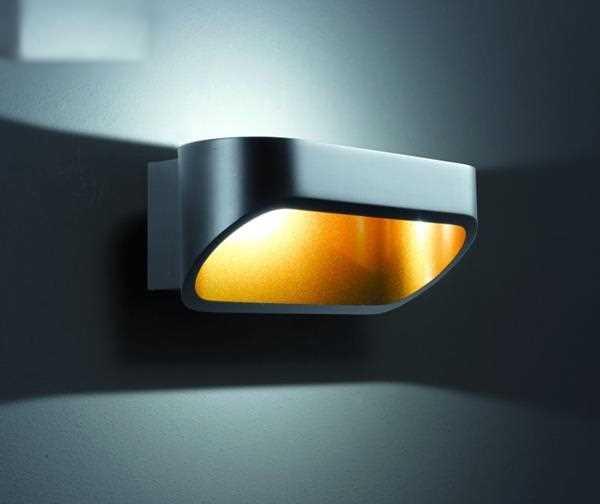 led wandleuchte onno 18 schwarz gold helestra. Black Bedroom Furniture Sets. Home Design Ideas