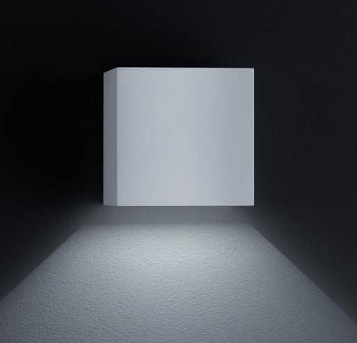 eckige led au enwandleuchte siri 44 a18242 helestra. Black Bedroom Furniture Sets. Home Design Ideas