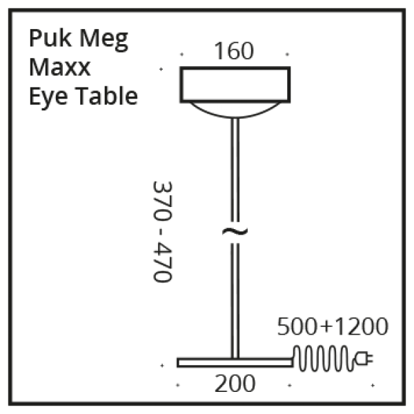 Top Light LED Puk Meg Maxx Eye Table Tischleuchte 47cm, Dimmbar Farbauswahl
