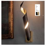 EXHIBITION PART - BRAGA LED wall luminaire TRUCIOLO 2083/A 23/14 grilled/gold leaf